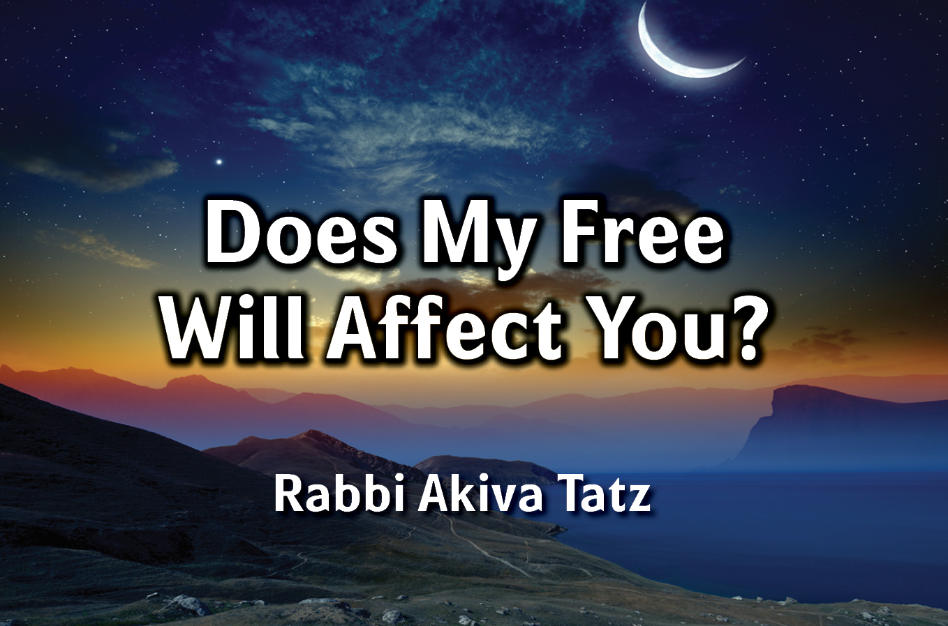 Photo of Does My Free Will Affect You?