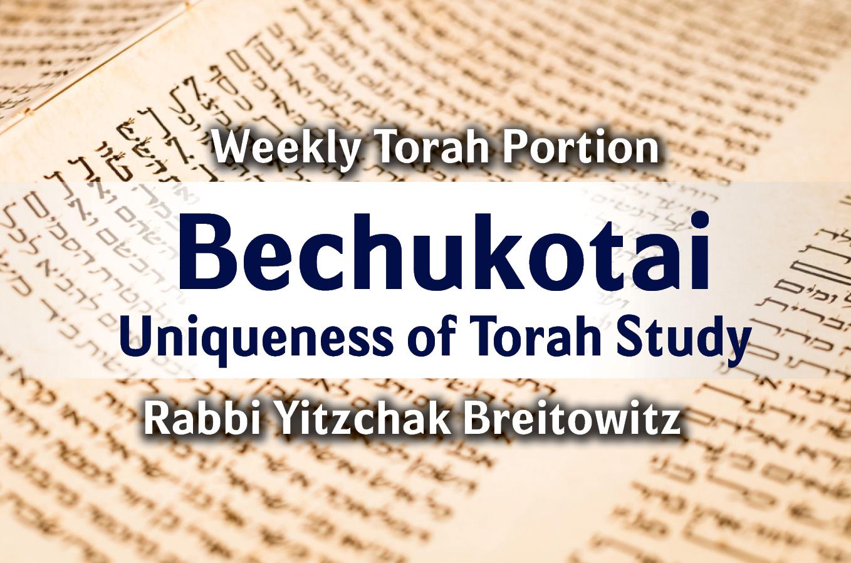Photo of Bechukotai – The Uniqueness of Torah Study