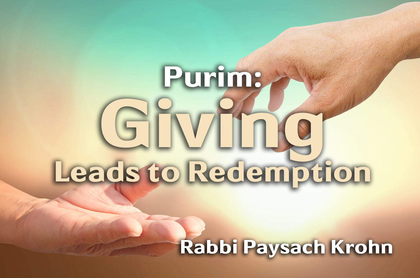 Photo of Giving Leads to Redemption