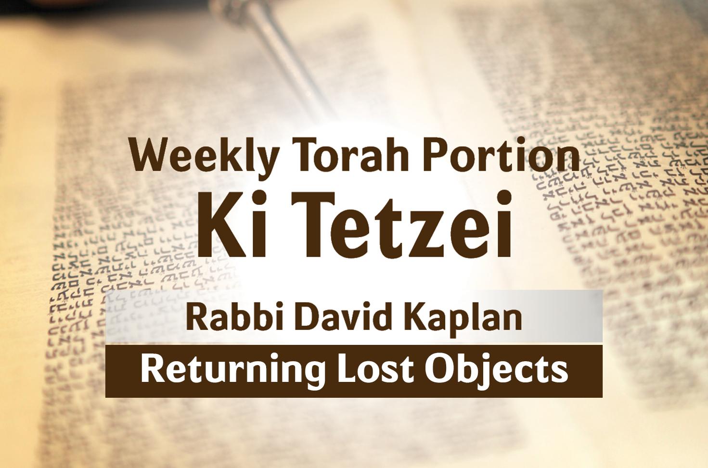 Photo of Ki Tetzei – Returning Lost Objects