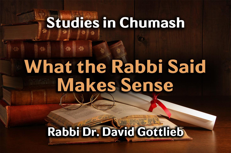Photo of What the Rabbi Said Makes Sense
