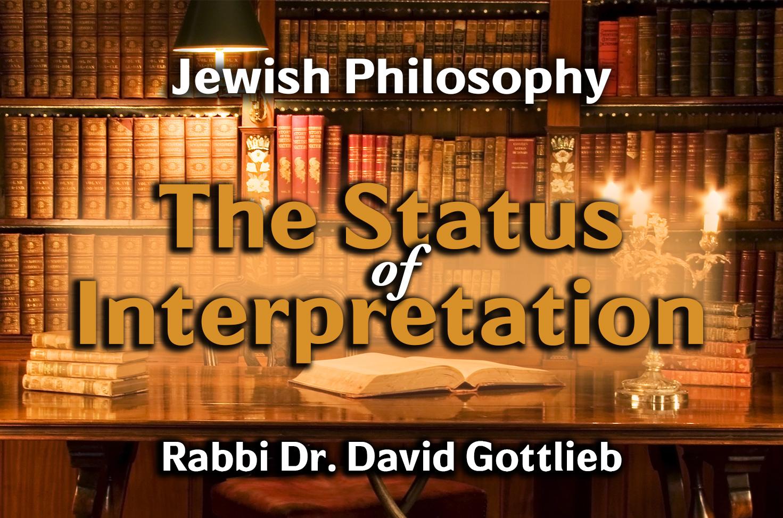 Photo of The Status of Interpretation