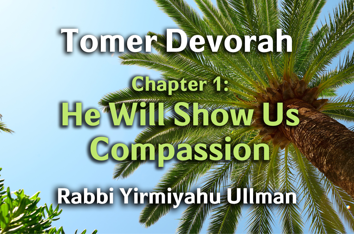 Photo of Tomer Devorah – Chapter 1 – He Will Show Us Compassion