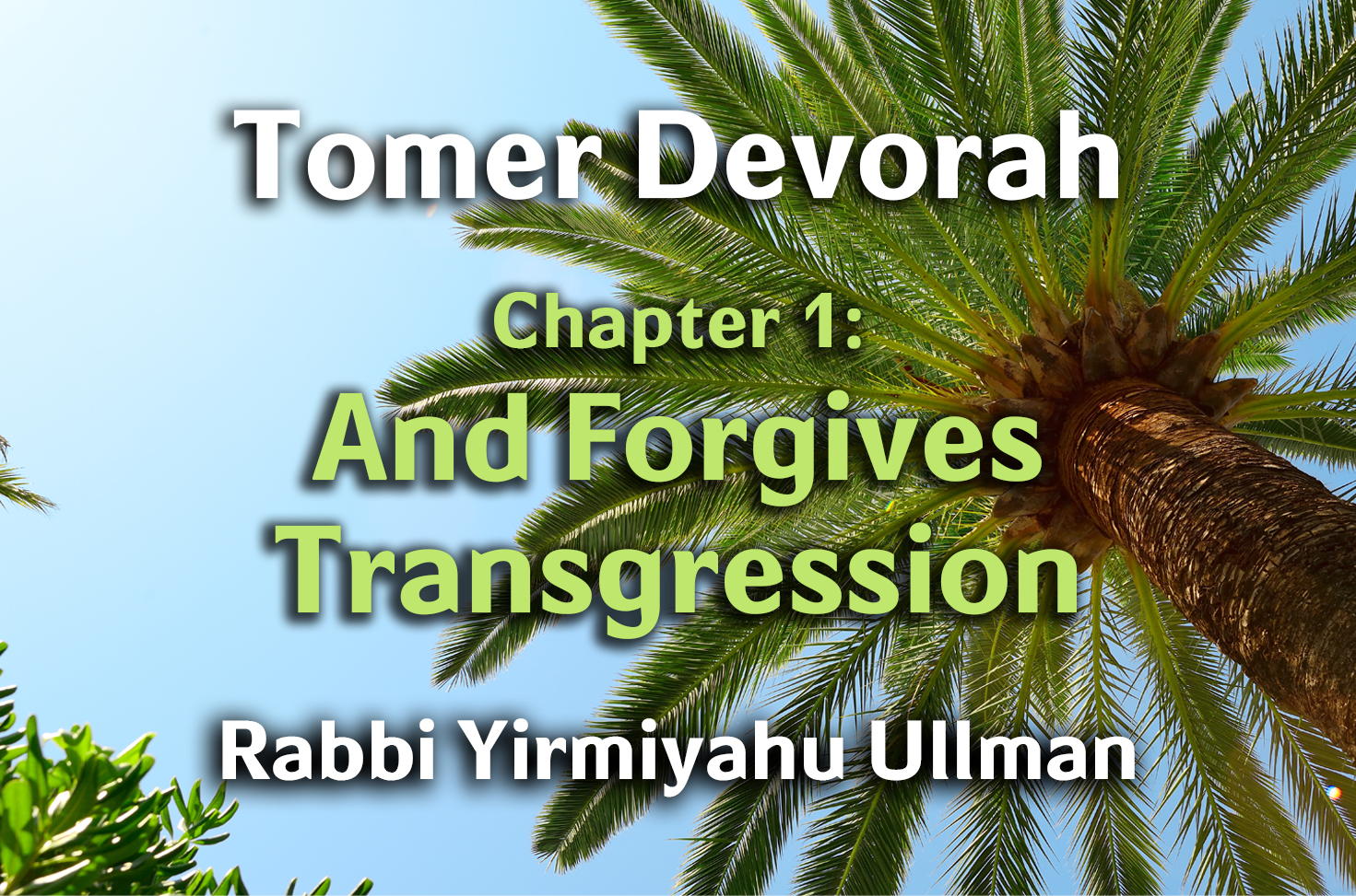 Photo of Tomer Devorah – Chapter 1 – And Forgives Transgression