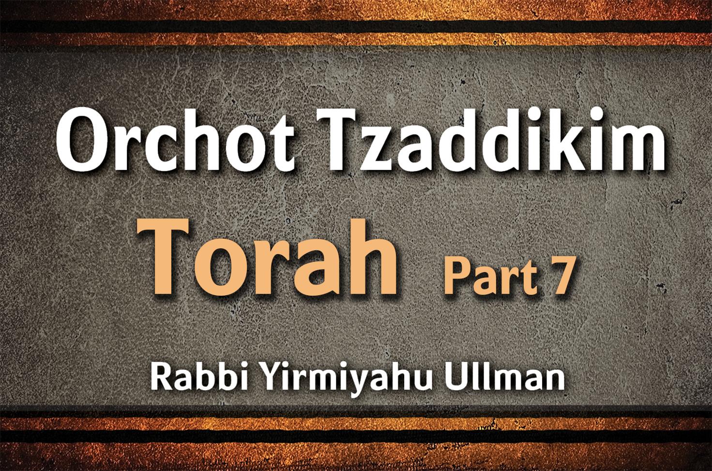 Photo of Orchot Tzaddikim – Torah – Part 7