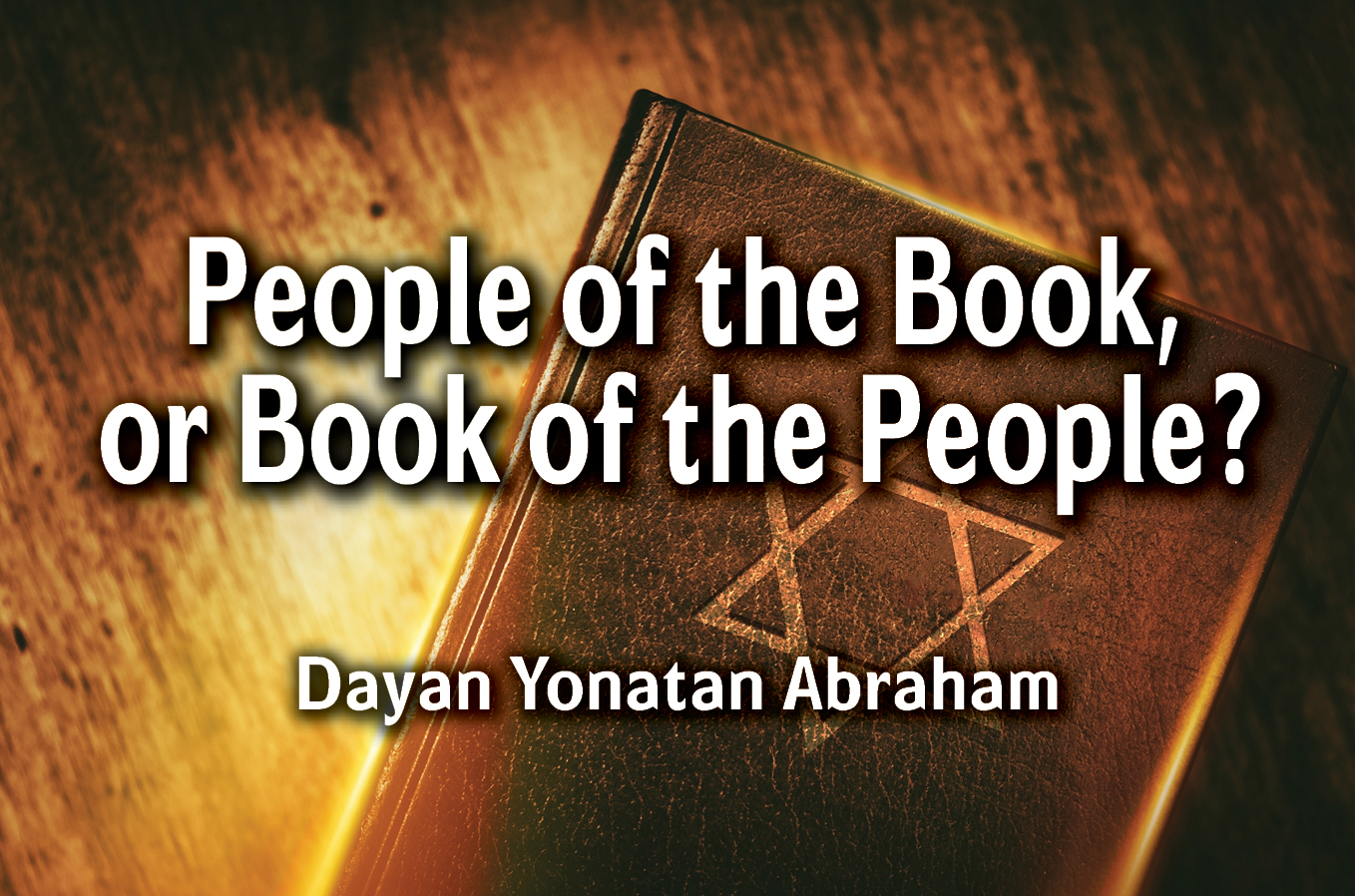 Photo of People of the Book or Book of the People?