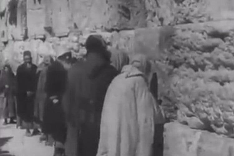 Photo of Rare Footage: The Western Wall on Tisha B'Av More Than a Century Ago