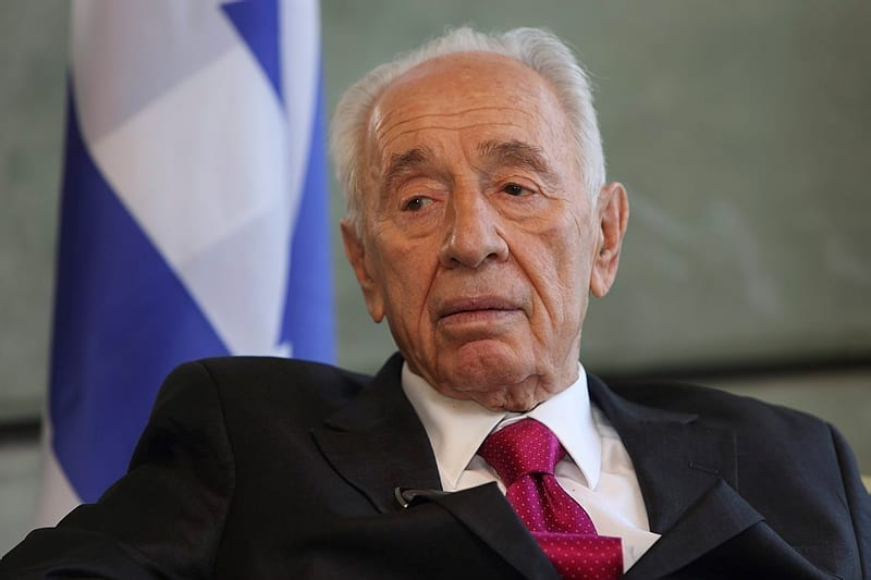 Photo of Former Israeli President Shimon Peres in Grave Condition After Stroke