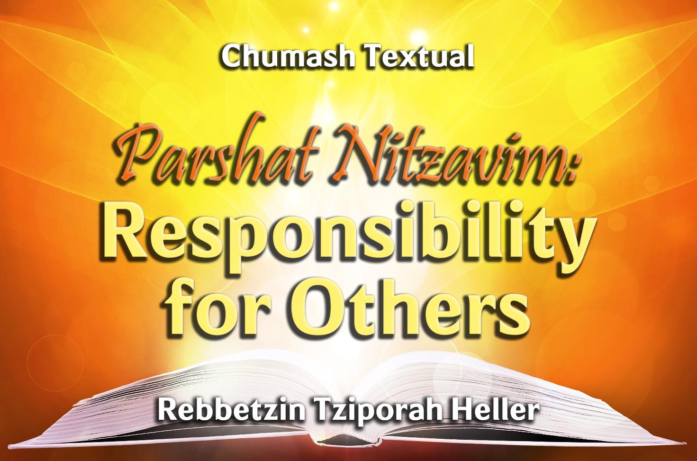 Photo of Parshat Nitzavim – Responsibility for Others