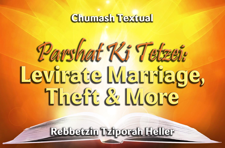 Photo of Parshat Ki Tetzei – Levirate Marriage, Theft & More