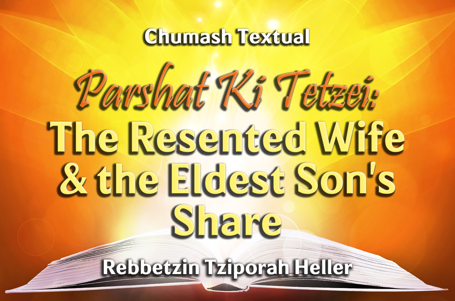 Photo of Parshat Ki Tetzei – The Resented Wife & the Eldest Son's Share
