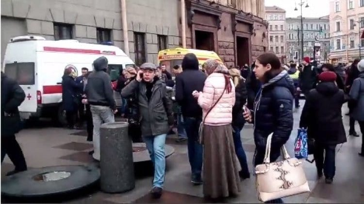 Photo of St. Petersburg Train Was Bombed By Suicide Terrorist