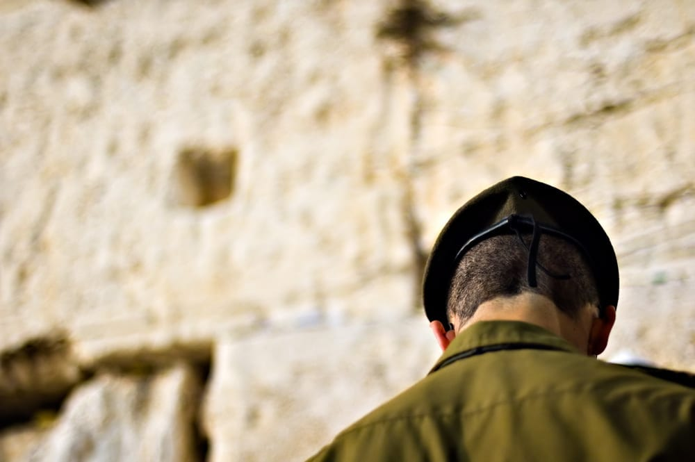 """Photo of """"Hey Soldier! Why the Uniform? Couldn't You Wear Shabbat Clothing?"""""""