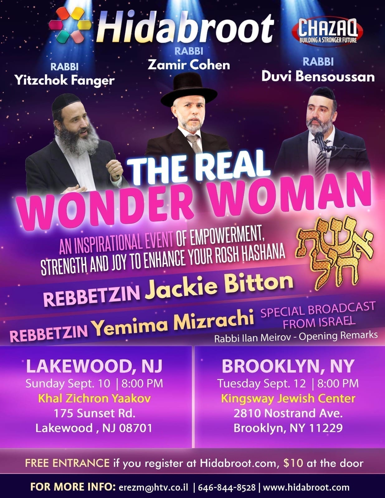 Photo of Women of Lakewood and Brooklyn, Get Empowered for Rosh Hashana!