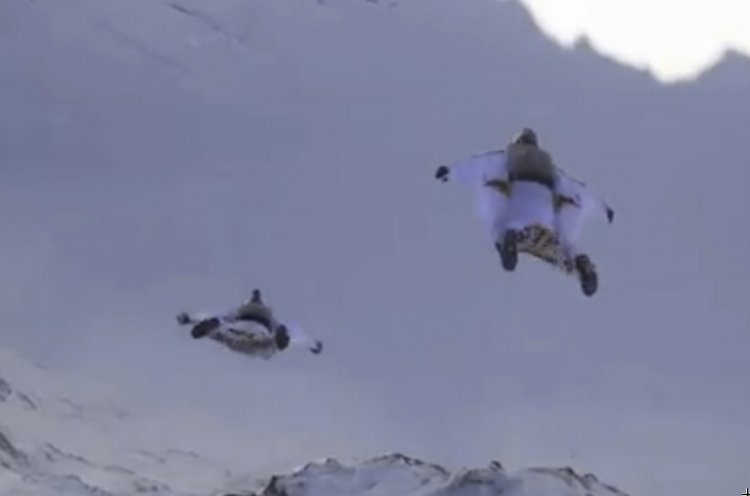 Photo of Watch: Skydive from Mountaintop into Moving Plane