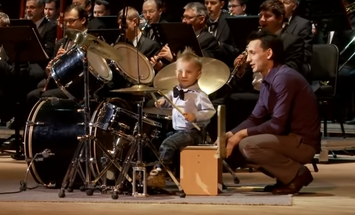 Photo of Watch: 3 Years Old Drummer Leads Orchestra in Style