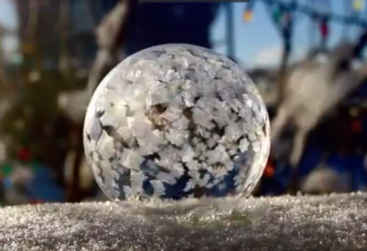 Photo of Watch how a Soap Bubble Freezes in Slow Motion