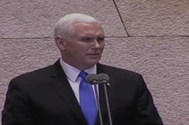 Photo of Watch Vice President Pence say Shehechiyanu in the Knesset