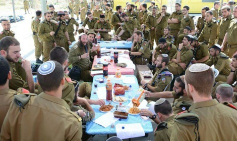 "Photo of Chief Rabbi to IDF Chief of Staff: ""Bring Torah Classes Back to Army Training Bases"""