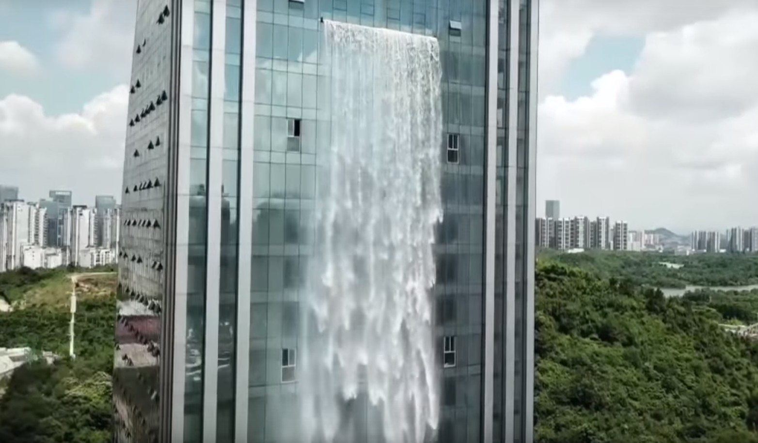 Photo of See the World's Highest Man-Made Waterfall on a Chinese Skyscraper