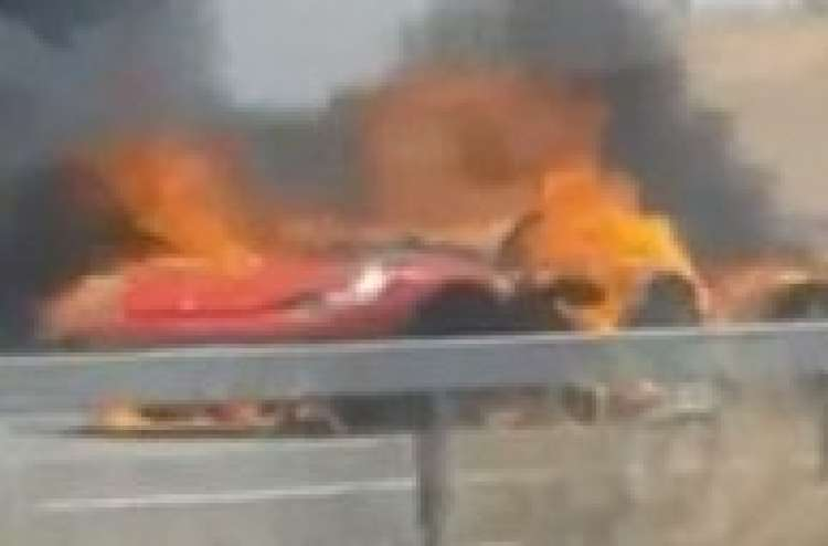 Photo of Ferrari Goes Up in Flames Near Kiryat Gat, Israel – Watch