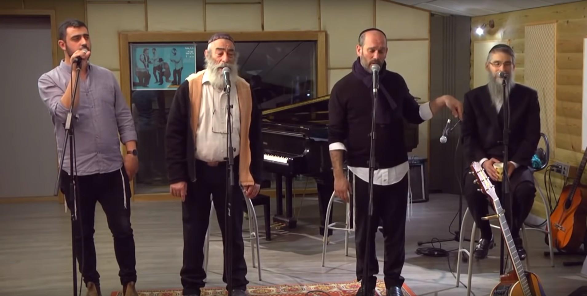 Photo of Avraham Fried, Yonatan Razel, Ishay Ribo & Ariel Zilber Rehearse for Concert