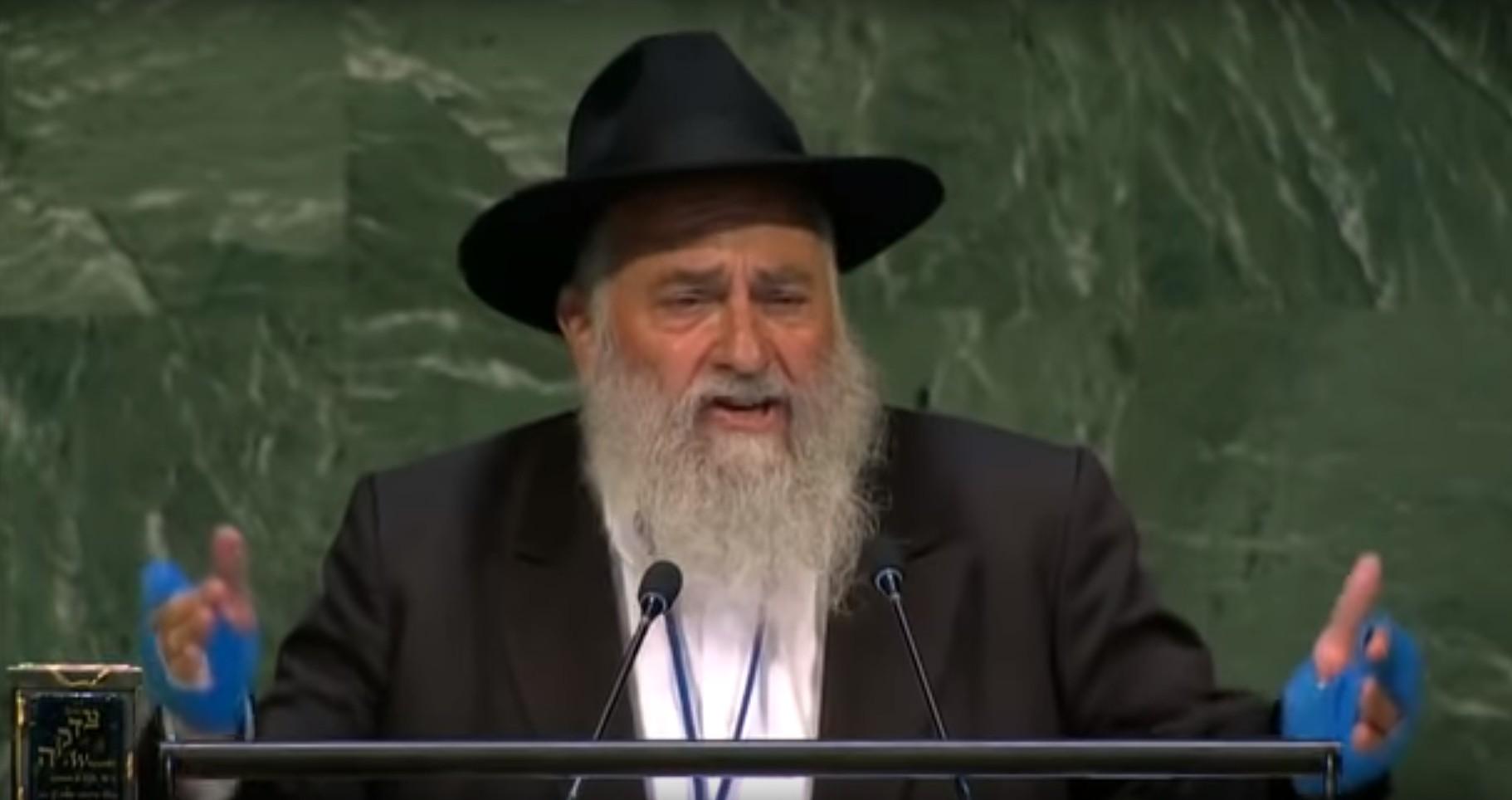 Photo of Rabbi Yisroel Goldstein Addresses the UN General Assembly – Watch